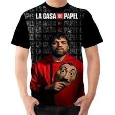 Imagem de Camiseta Camisa Bogotá Tema La Casa De Papel Série Ladrões