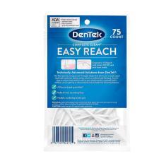 Imagem de Fio Dental Dentek Floss Picks Complete Clean Easy Reach com 75 unidades