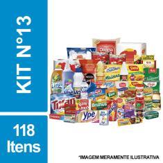 Imagem de Cesta Básica De Alimentos, Higiene E Limpeza C/ 118 Itens