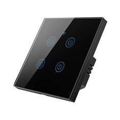 Imagem de 4 Interruptores Zigbee Smart Touch Switch Home Wall Button para Alexa e Google Home Assistant EU Standard Smart Life APP ( 4)