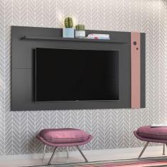 Imagem de Painel para TV até 48 Polegadas Eyre Grafite e Rosé