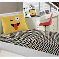 Imagem de Jogo de Lençol Infantil Solteiro Malha Joy Emojis - Portallar