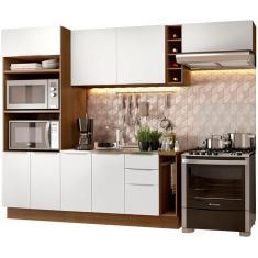 Imagem de Cozinha Completa 3 Gavetas 8 Portas sem Tampo Stella 290002 Madesa