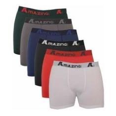 Imagem de Kit 10 Cuecas Algodão Cotton Box Boxer Adulto Qualidade