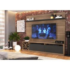 Imagem de Home Veneza Com Painel E Adega 2020 Para Tv Até 60 Polegadas 1 Porta De Vidro Montana /grafite - Quiditá