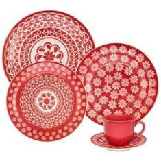 Imagem de Aparelho Jantar e Chá 30 Peças Floreal Renda Oxford Porcelanas