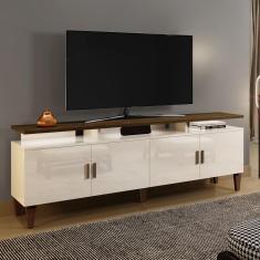 Imagem de Rack Para Tv Até 55 Polegadas 4 Portas Retrô Cajueiro Yescasa Off White/Cânion Soft