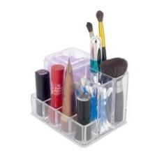 Imagem de Organizador Porta Maquiagem Cotonete Acrílico - 07 Divisões