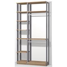 Imagem de Guarda-Roupa Closet 9005 Clothes Be Mobiliário