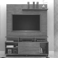 Imagem de Estante Home Para TV Até 60 Polegadas 1 Porta Star Valdemóveis Ipe/Grafite