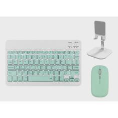 Imagem de Mouse Bluetooth do kit de teclado e suporte para telefone /tablet