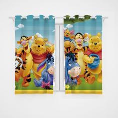 Imagem de Cortina Infantil Ursinho Pooh Decoração Quarto Criança