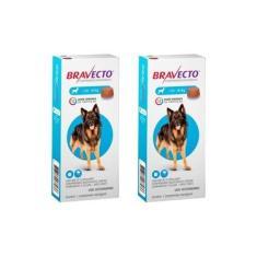 Combo Bravecto Antipulgas E Carrapatos Para Cães De 20 40kg 2 unidades