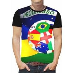 Imagem de Camiseta de futebol masculina infantil time roupas BRASIL