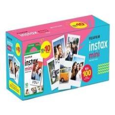 Imagem de Kit Filme instantâneo Instax Mini Fujifilm Pacote Com 100 Filmes Coloridos Com Bordas s