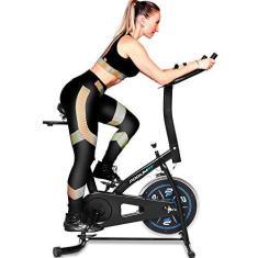 Imagem de Bicicleta Ergométrica Spinning PodiumFit S100 - Roda 8kg - Silenciosa
