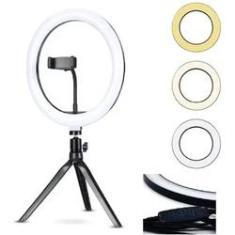 Imagem de Anel Iluminador LED Flexivel Ring Light Tripe 20cm com Suporte Celular Universal Selfie Youtuber Gravação Fotos Makes