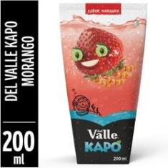 Fardo Lacrado Com 12 Un De Suco Kapo Del Valle Morango 200ml