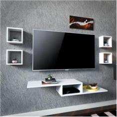 Imagem de Rack Suspenso Tv Quarto Sala Com 5 Peças s Sem Painel