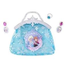 Imagem de Kit Beleza Infantil Bolsa Brinco E Anel E Acessórios Frozen