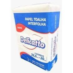 Imagem de Papel toalha Delicatto 100% celulose 22,5 x 20