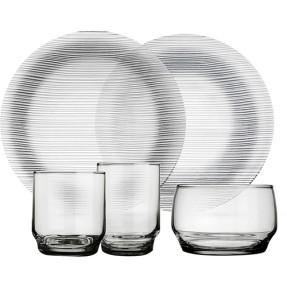 Imagem de Aparelho de Jantar Redondo de Vidro 20 peças - Diamante Marinex