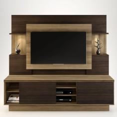 Imagem de Estante Home para TV até 55 Polegadas Aron Siena Móveis Capuccino Wood/Ébano