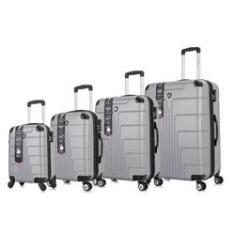Imagem de conjunto de malas de viagem em abs fibra
