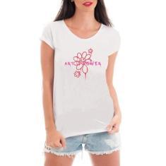 Imagem de Camiseta Feminina Anarquia Grafite - Art Is Power - Arte Urbana - Camisa Divertida e Engraçada (, P)
