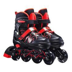 Imagem de Patins ajustáveis em linha para crianças e adultos, patins ajustáveis em linha para iniciantes, patins ao ar livre para meninas e meninos, homens e mulheres