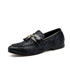 Imagem de KOYODA Mocassim masculino da Penny – sapato social de couro de tecido premium moderno com borlas e sapatos para dirigir – mocassins elegantes para homens, , 12.5