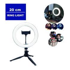 Imagem de Luz Camera Ring Light Iluminador 20cm Suporte Celular Tripé