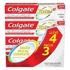 Imagem de Creme Dental Colgate Total 12 Clean Mint 90G Promo Leve 4 Pague 3