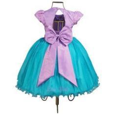Imagem de Vestido Infantil Ariel Sereia