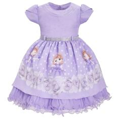 Imagem de Vestido Infantil Tema Princesa Sofia Aniversário 1 Ao 3