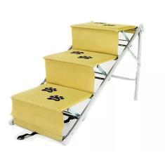 Imagem de Escada Para Cães Cachorro Dobravel Rampa Tubline Pet Bege