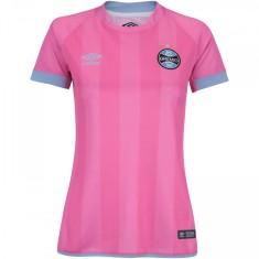 Camisa Feminina Grêmio Outubro Rosa 2017 Edição Especial Feminino Umbro c4f437f73cdce