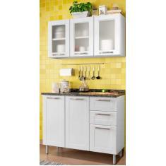 Imagem de Cozinha Compacta 2 Gavetas 6 Portas Multipla Bertolini
