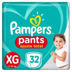 Fralda de Vestir Pampers Pants Ajuste Total Tamanho XG 32 Unidades Peso Indicado 11 - 15kg