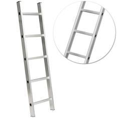 Imagem de Escada Paralela Alumínio 5 Degraus 150 Kg Vonder com Sapatas Antiderrapantes