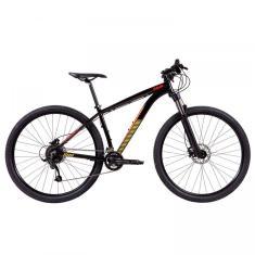 Bicicleta Mountain Bike Caloi 27 Marchas Aro 29 Suspensão Dianteira Freio a Disco Hidráulico Caloi Moab Flex