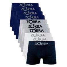 Imagem de Kit 10 Cuecas Boxer Zorba Seamless com Algodão