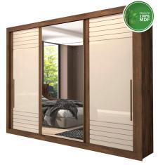 Guarda-Roupa Casal 3 Portas 6 Gavetas com Espelho Vitória Panan Móveis