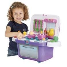 Imagem de Cozinha Portátil Infantil Homeplay Cheff Com Som Lilás/