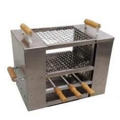 Imagem de Churrasqueira Apartamento Sem Fumaça Inox G 2Grelhas3 Espeto