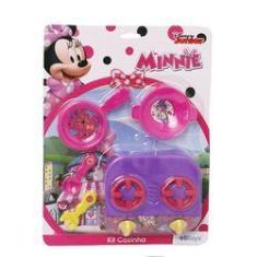 Imagem de Kit Cozinha Panelinha Minnie Mouse Etitoys Fogãozinho Disney