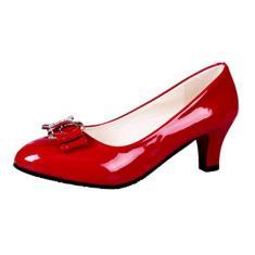 Imagem de Primavera Verão Sapatos Femininos Casuais Decoração Bowknot Elegantes Sapatos Superiores de pu