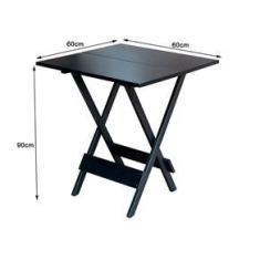 Imagem de Conjunto De Mesa Dobravel De Madeira 60x60 Com 4 Cadeiras  Estofado