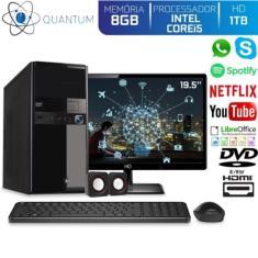 "PC Quantum 28676 Intel Core i5 8 GB 1.000 Linux 19,5"""