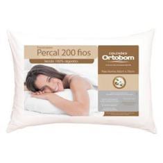 Imagem de Travesseiro Ortobom Super em Fibra Siliconizada Percal 200 Fios 50 x 70 cm -